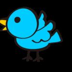 青い小鳥のイラスト