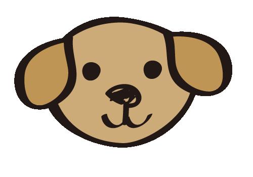 手書き風の犬