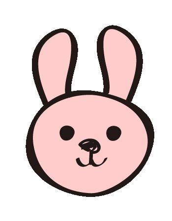 手書き風のウサギ