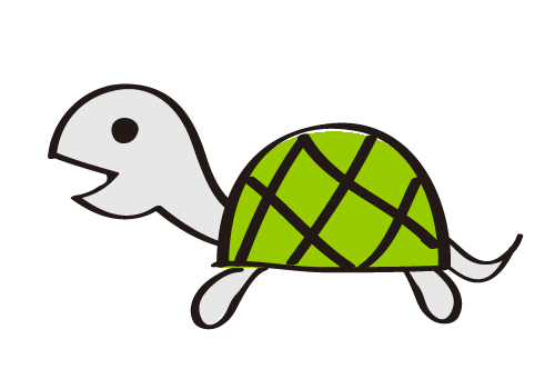 手書き風の亀(カメ)