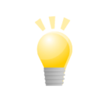豆電球のアイコン