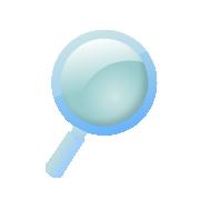 虫眼鏡のアイコン(検索/サーチ)1