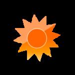 晴れ/太陽のアイコン