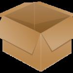 ダンボール(空箱)のイラスト