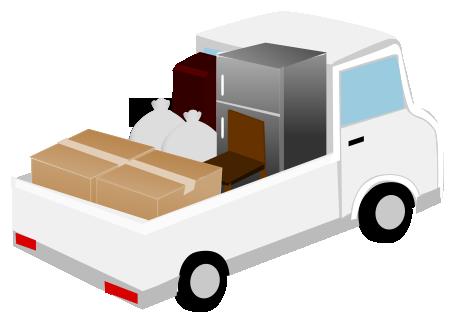 廃品回収するトラック