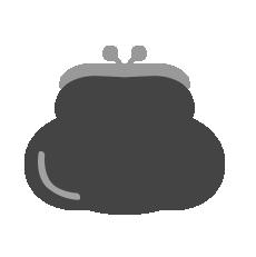 がま口財布(黒)