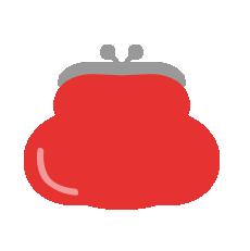 がま口財布(赤)