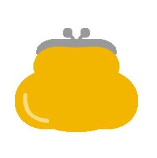 がま口財布(黄色)