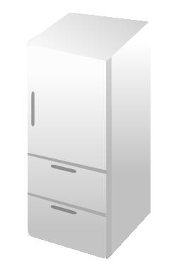 3ドアの冷蔵庫