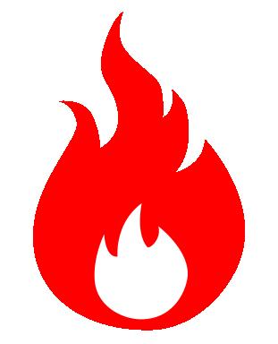 炎のイラストアイコン