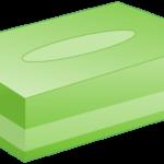 ボックスティッシュ(緑色)のイラスト