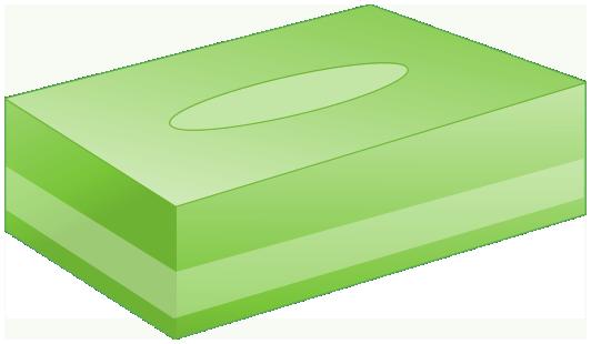 BOXティッシュ(緑)
