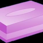 ボックスティッシュ(紫色)のイラスト