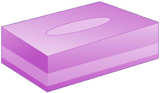 BOXティッシュ(紫)