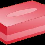 ボックスティッシュ(赤色)のイラスト