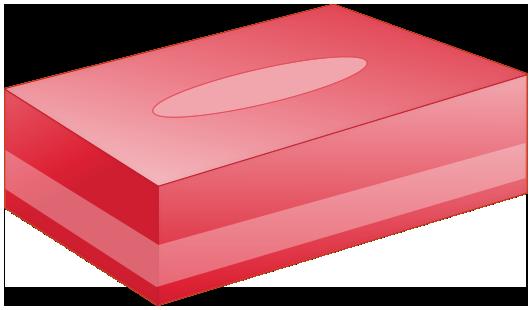 BOXティッシュ(赤)