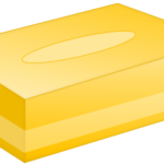 ボックスティッシュ(黄色)のイラスト