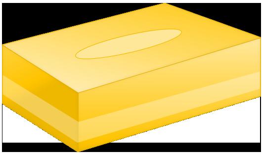 BOXティッシュ(黄色)