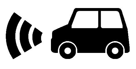 自動ブレーキ付自動車