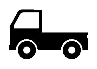 軽トラックのアイコン素材